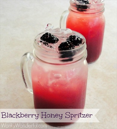Homemade Blackberry Honey Spritzer Recipe
