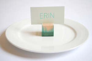How to Make Homemade Wood Block Place Card Holders