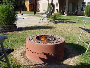 Homemade, Inexpensive Fire Pit