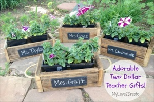 How to Make Chalkboard Planter Boxes