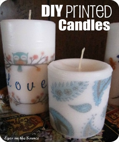 How to Make DIY Printed Candles