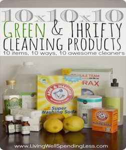 Homemade Natural Green Cleaning Recipes