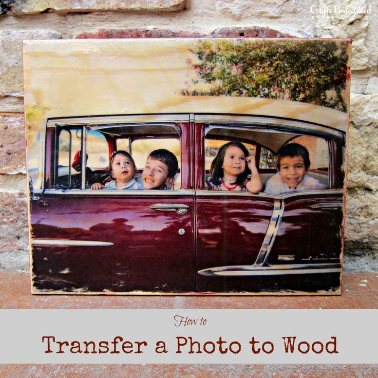 How to Transfer a Photograph to Wood