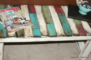 How to Make a Patchwork Pallet Bench