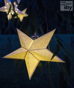 DIY Paper Star Lanterns and Free Cutting Files