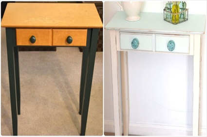 An Easy Side Table Makeover with Paint