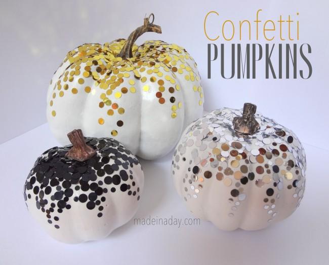 How to Make Halloween Confetti Pumpkins!