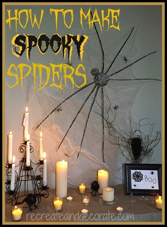 How to Make Spooky Spider Decorations