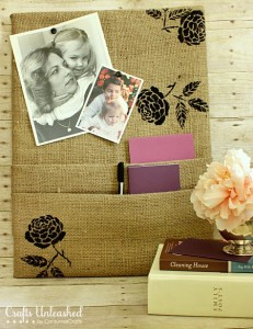 How to Make a Burlap Covered DIY Cork Board