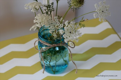 How to Paint A Chevron Table