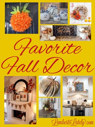 Fall Home Decorating Ideas on Favorite Fall D  Cor Ideas   Diy Home Sweet Home