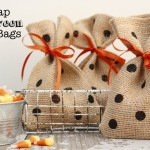 How to Make Burlap and Polka Dot Halloween Treat Bags
