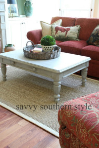 Painted Furniture:  Coffee Table Makeover