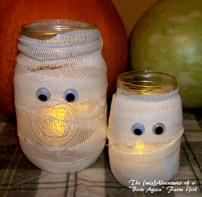 How to Make a Halloween Mummy Jar