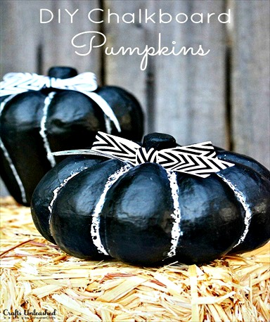 DIY Chalkboard Pumpkin Decorations