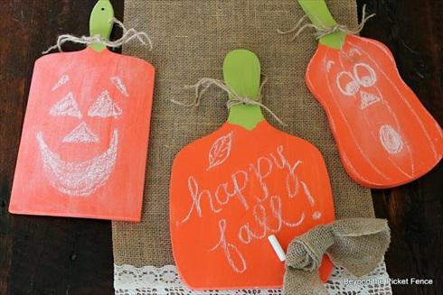 How to Make Chalkboard/Cutting Board Pumpkins