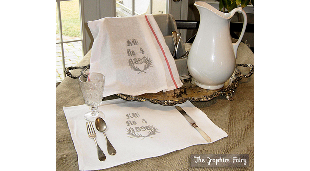How to Create Your Own Graphic Vintage Tea Towels