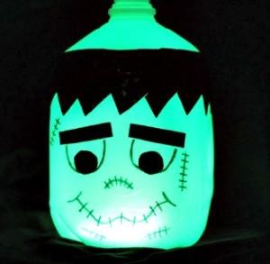 How to Make a Halloween Glow in the Dark Frankenstein Milk Jug