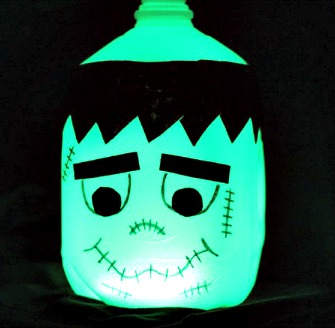 How to Make a Halloween Glow in the Dark Frankenstein Milk Jug
