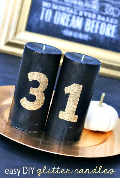 DIY Glittered Candles