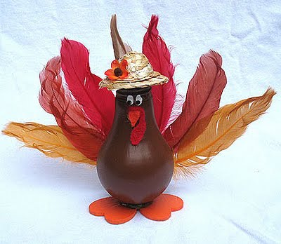 How to Make a Light Bulb Turkey Decoration
