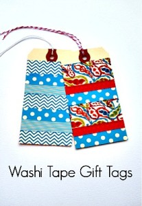 How to Make Washi Tape Gift Tags