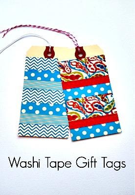 washi gift tag