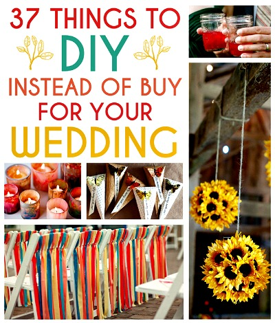 37 diy things to make instead of buy for your wedding for Things to do to buy a house