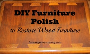 DIY Polish to Restore Wood Furniture