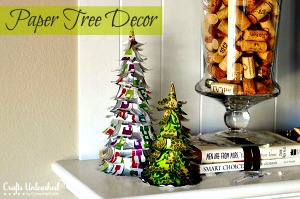 How to Make Holiday Paper Tree Decorations