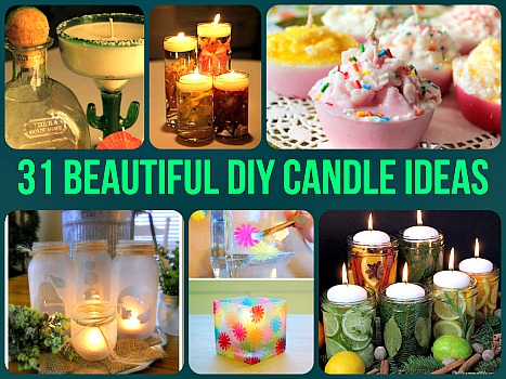 31 Beautiful DIY Candle Ideas & Tutorials