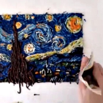 DIY: Chocolate Painting of Van Gogh's Starry Night