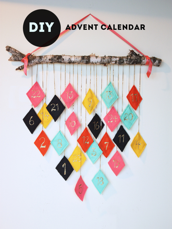 Diy Kins Advent Calendar : Diy reusable hanging felt fabric advent calendar