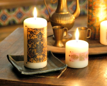 How to Make Tissue Transferred Candles