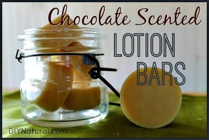 chocolate scented lotion bars