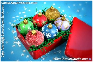 Tutorial: How to Make Edible Christmas Ornament Cupcakes