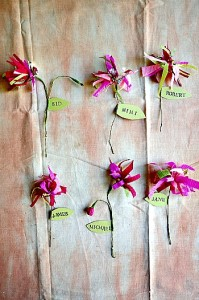 How to Make Paper Scrap Flower Place Cards (DIY)