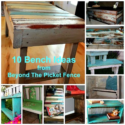 10 Bench Ideas from Beyond the Picket Fence