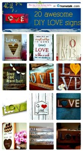 20 Awesome DIY LOVE Signs