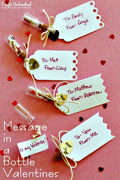 handmade message in a bottle valentines
