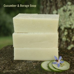 How to Make Cucumber Borage Soap