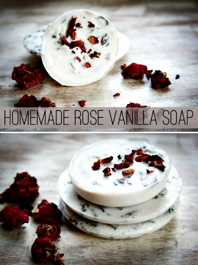 homemade rose vanilla soap