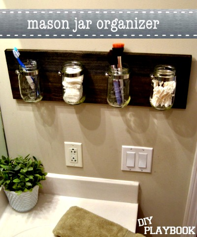 How to Create a Mason Jar Bathroom Organizer