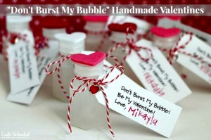 "How to Make Easy & Cute ""Don't Burst My Bubble"" Valentine Crafts"