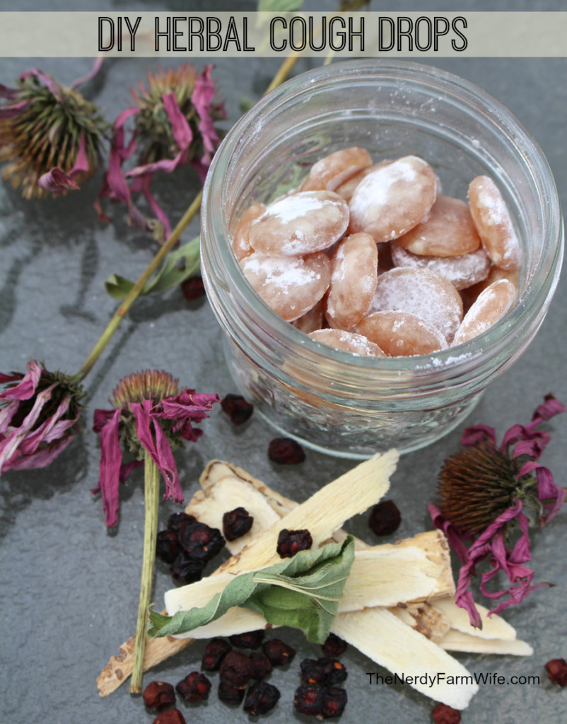DIY Healthy Herbal Cough Drops