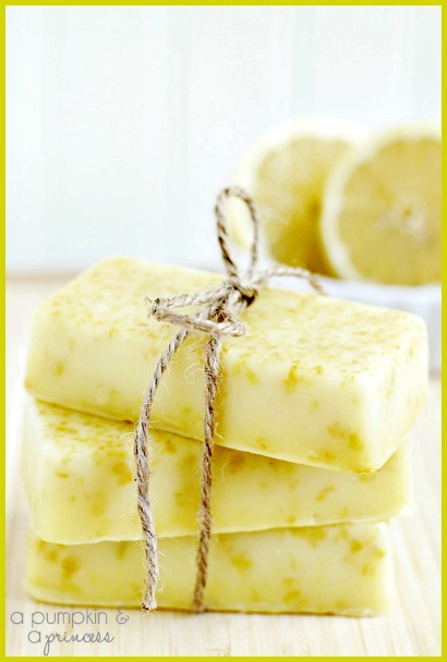 Homemade Lemon Soap Bars