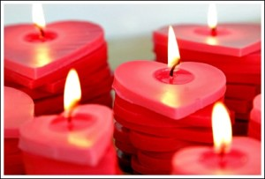 How to Make Stacked Ombre Heart Candles