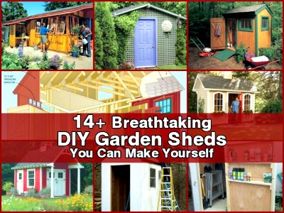 14+ Breathtaking DIY Garden Sheds