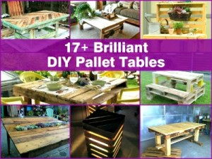 17+ Brilliant DIY Pallet Table Ideas and Tutorials
