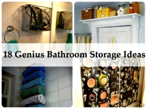 18 Genius Bathroom Storage Ideas